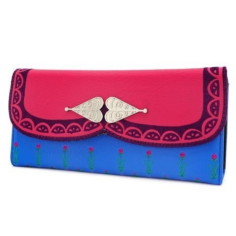 Disney Frozen Anna Cosplay Loungefly Trifold Wallet