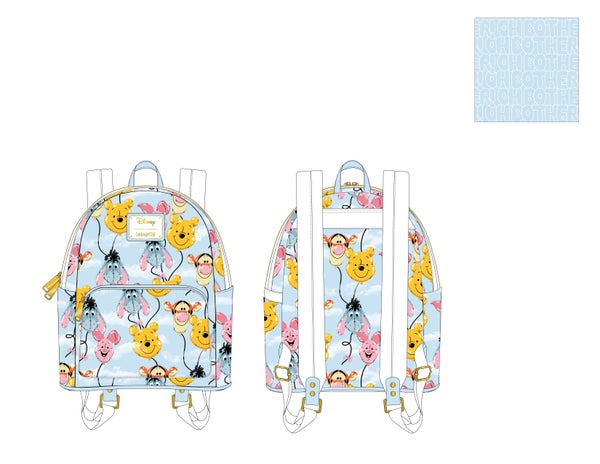 Winnie the Pooh Balloon Friends Mini Backpack  Loungefly - PRE-ORDER expected late March