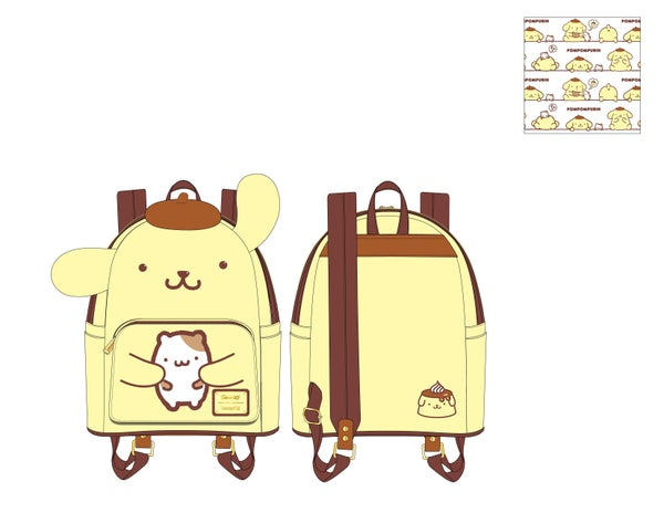 Pompompurin Cosplay mini Backpack Sanrio Loungefly PRE-ORDER expected late March
