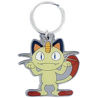 POKEMON Meowth Metal Keychain