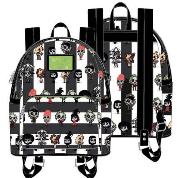 BEETLEJUICE Chibi AOP Mini Backpack [PRE-ORDER - SEPTEMBER DELIVERY] LOUNGEFLY
