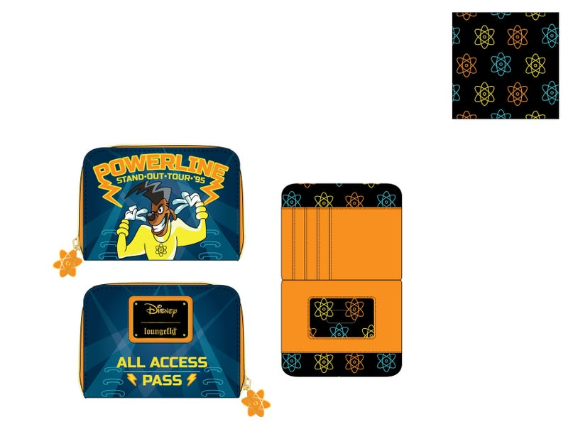 Goofy Movie Powerline all access pass ziparound wallet Disney by Loungfly PRE-ORDER expected late May
