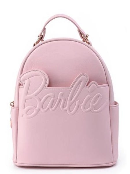 Barbie Rose Gold Logo Convertible Mini-Backpack and/or Wallet Set Loungefly