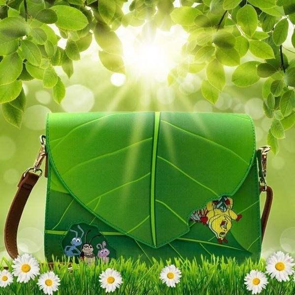 A Bug's Life Leaf Crossbody Purse and/or Wallet Loungefly