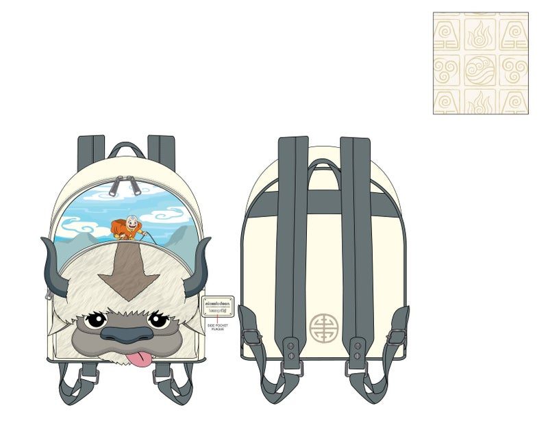Avatar Aang Appa Cosplay Plush Mini Backpack Nickelodeon Loungefly PRE-ORDER