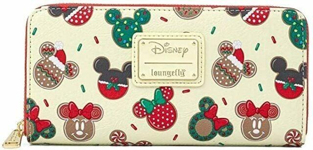 Disney Christmas Mickey & Minnie Cookie  Wallet  Loungefly