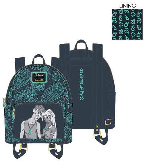 PREORDER Loungefly Disney Atlantis 20th Anniversary Kida Milo mini backpack Expected late June