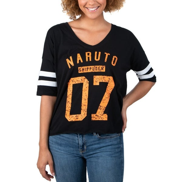 Naruto 07 V-neck Varsity Tee Juniors