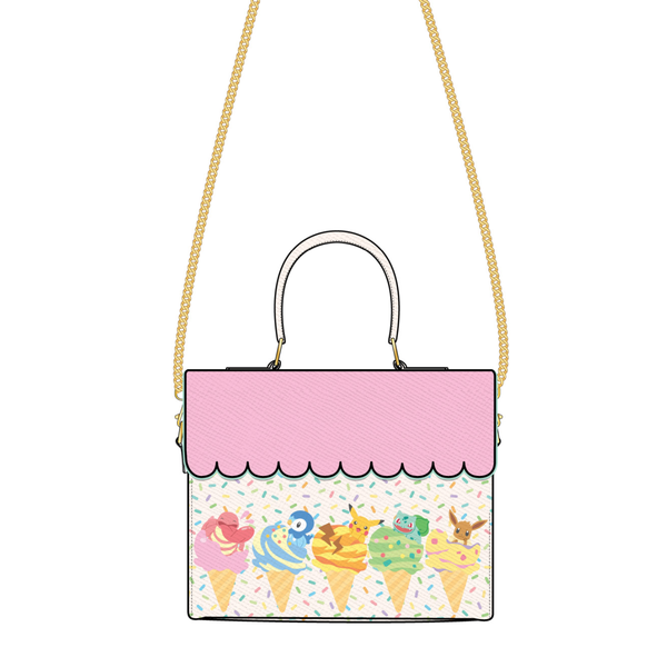 Pokemon Ice Cream Scallop Crossbody Bag Loungefly PRE-ORDER expected late May