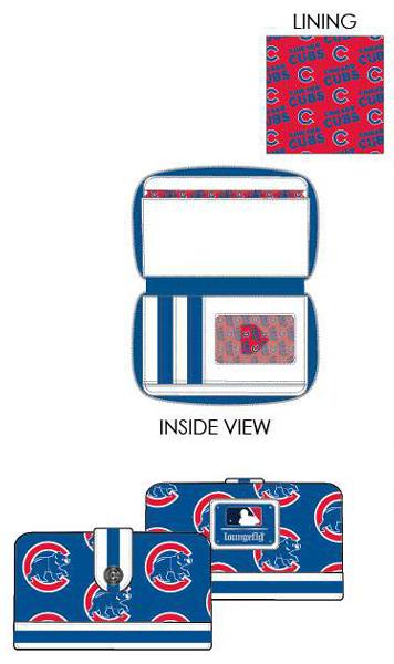 PREORDER Loungefly MLB Chicago Cubs logo wallet Expected late June