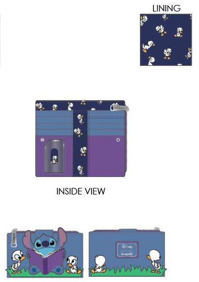 PREORDER Loungefly Lilo and Stitch story time duckies flap wallet Expected Late June
