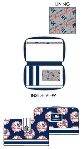 PREORDER Loungefly MLB Yankees logo wallet Expected late June