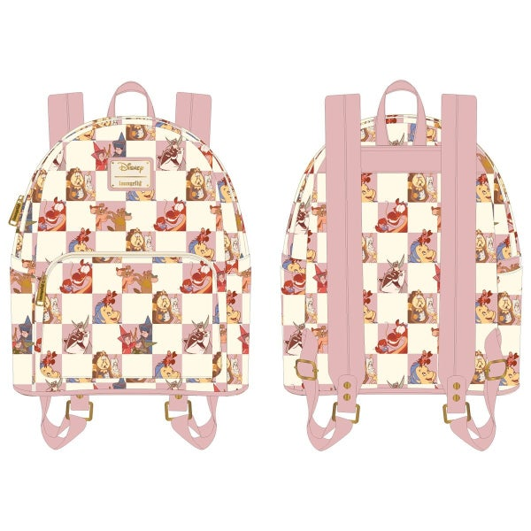 Disney Best Friends Characters Rose Checker Mini Backpack and / or Flap Wallet Set PRE-ORDER Loungefly