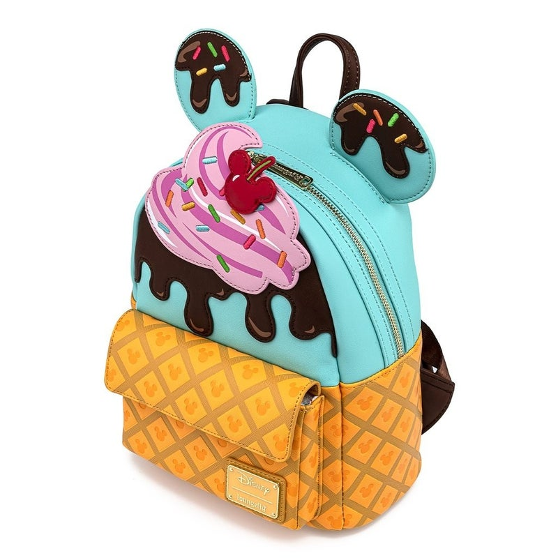 Mickey & Minnie Mouse Sweets Mini Backpack  Icecream Loungefly