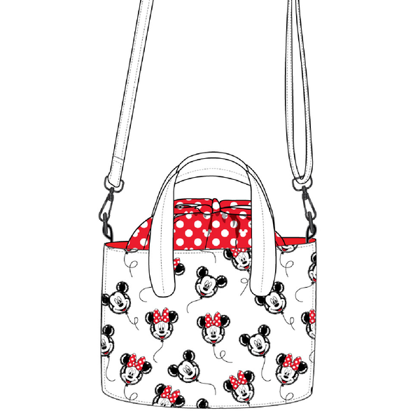 Mickey Minnie Mouse Balloon Handbag Crossbody Loungefly PRE-ORDER expected late May