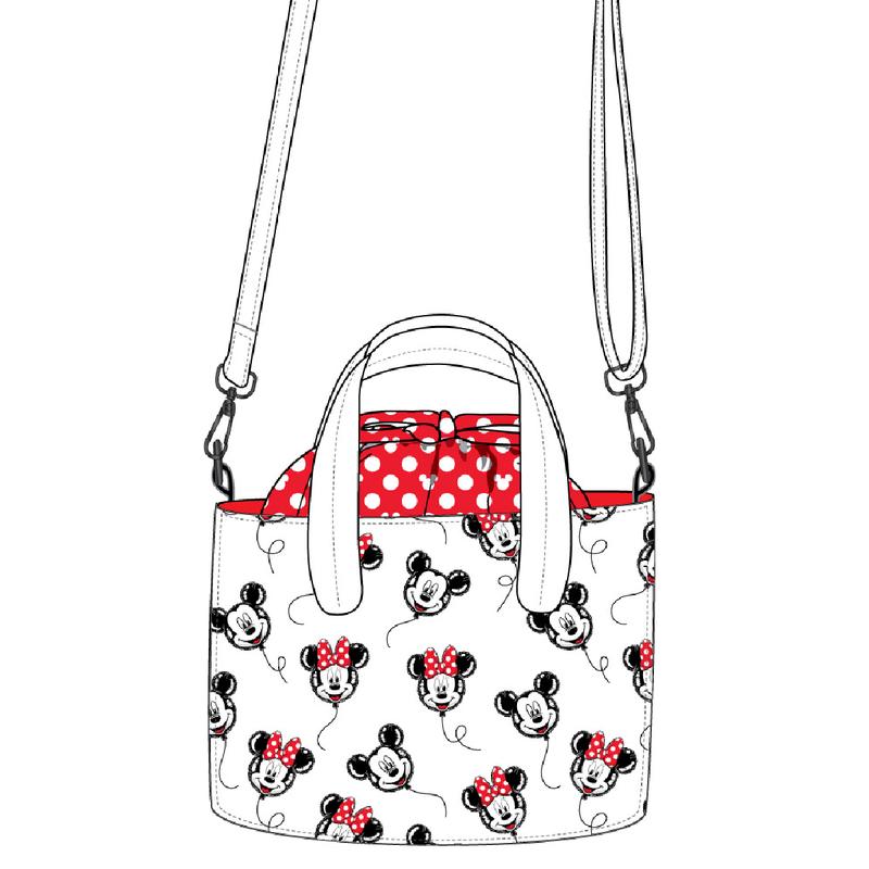 Mickey Minnie Mouse Balloon Handbag Crossbody Loungefly PRE-ORDER expected late May