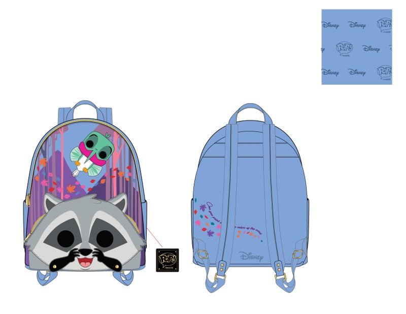 Pocahontas Meeko Flit Earth Day cosplay Mini Backpack Disney Pop by Loungefly PRE-ORDER