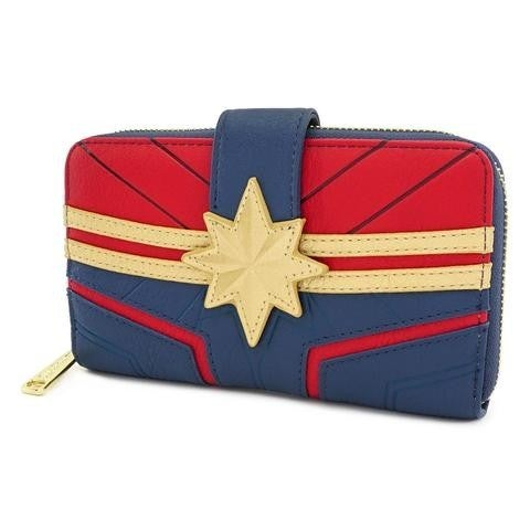 Marvel Captain Marvel Zip Around Wallet Loungefly