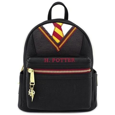 HARRY POTTER COSPLAY SUIT AND TIE MINI PU BACKPACK LOUNGEFLY