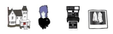 BEETLEJUICE 4 PC ENAMEL PINS SET PRE-ORDER for September