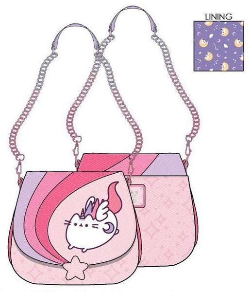 PREORDER Loungefly Pusheen unicorn ombre chain strap crossbody Expected late June