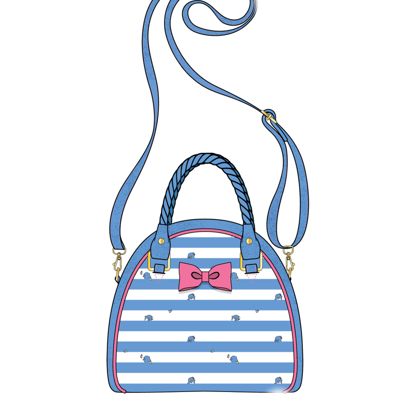 Tuxedo Sam Striped Crossbody Bag Loungefly PRE-ORDER expected late May