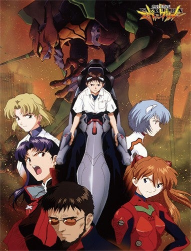 EVANGELION GROUP IN CITY SUBLIMATION THROW BLANKET