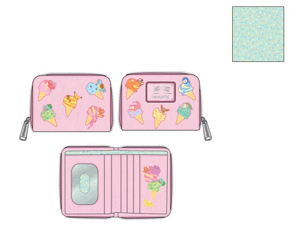 Pokemon Ice Cream Denim Zip Around  Wallet PRE-ORDER expected late May