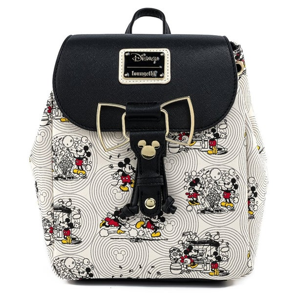 MICKEY & Minnie Bow Hardware AOP Backpack LOUNGEFLY