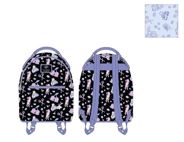Valfre Lucy Art AOP Mini Backpack Loungefly PRE-ORDER expected late March