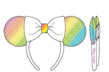 PREORDER Loungefly Disney sequin rainbow Minnie ears headband Expected Late June