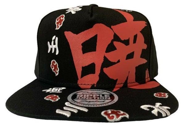 Naruto Shippuden Snapback Cap - Akasuki Kanji Ring