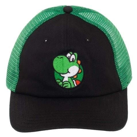 SUPER MARIO YOSHI MESH BACK ADJUSTABLE CAP TRUCKER HAT