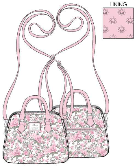 PREORDER Loungefly Disney Marie floral AOP crossbody Expected late June