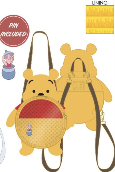 Winnie the Pooh Pin Collector Disney Backpack Loungefly PRE-ORDER Delivery expected late January