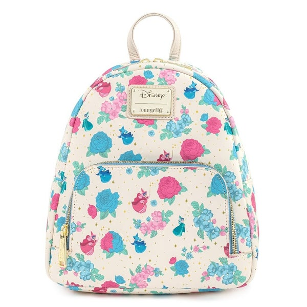 Sleeping Beauty Floral Fairy Godmother AOP Mini Backpack Loungefly PRE-ORDER expected late March