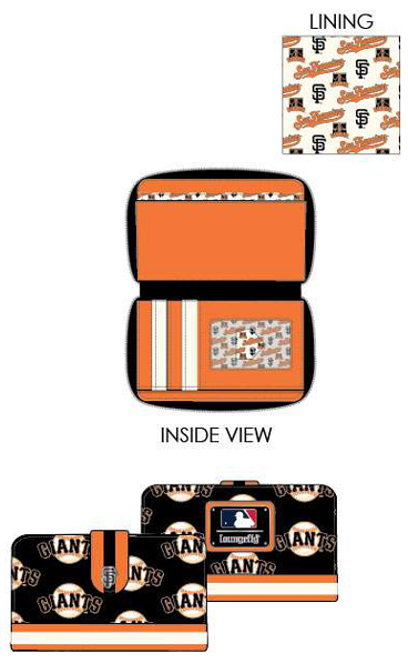 PREORDER Loungefly MLB SF Giants logo wallet Expected late June