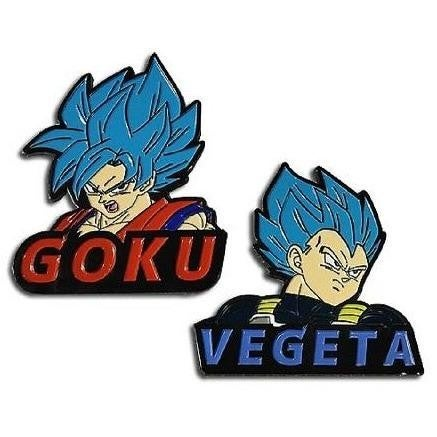 "DRAGON BALL: SUPER  Broly - SSGSS Goku and SSGSS Vegeta Set of 2 pins, 2"""