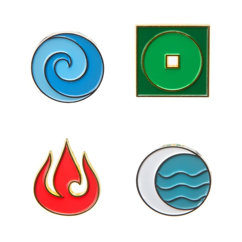 Avatar The Last Airbender Lapel Pin Set of 4