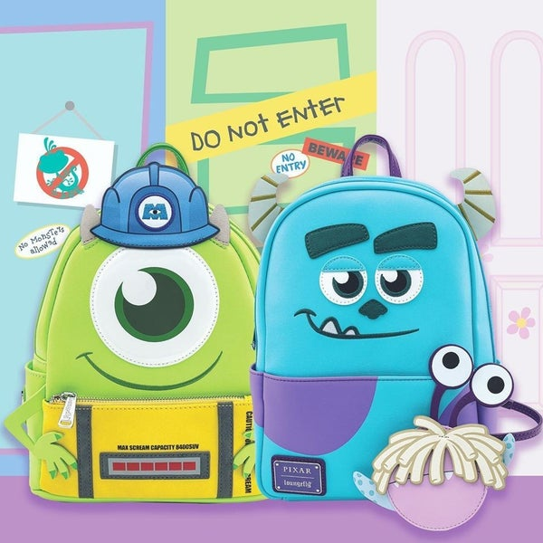 Disney-Pixar Monsters, Inc. Mike and Sully Mini Backpack and/or Cardholder Loungefly