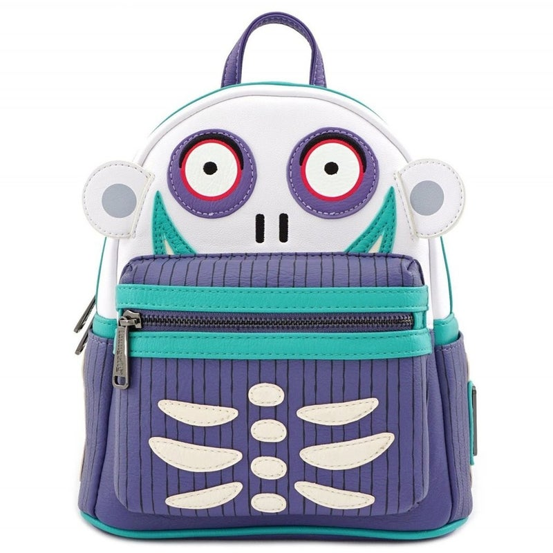 NIGHTMARE BEFORE CHRISTMAS BARREL CHARACTER MINI BACKPACK LOUNGEFLY