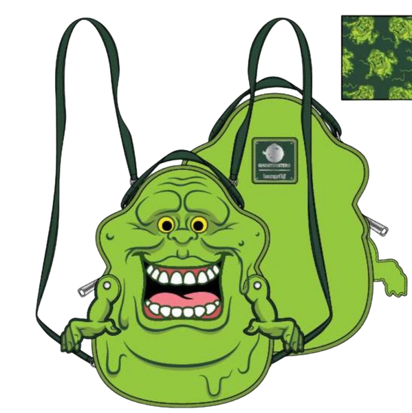 Ghostbusters Slimer Convertible Mini Backpack Loungefly - PRE-ORDER  Late February