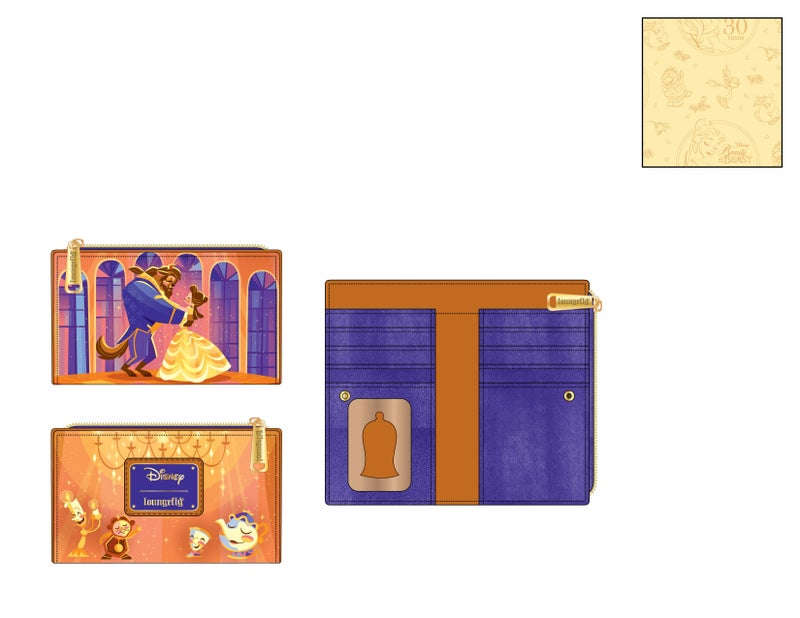 SET - Beauty and the Beast ballroom scene Backpack & Wallet Disney Loungefly PRE-ORDER expected late May