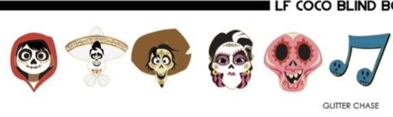 Coco Heads Blind Box Pins Enamel Loungelfy