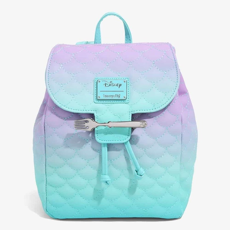Little Mermaid Ombre Scales Mini Backpack Loungefly