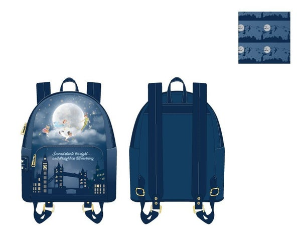 Peter Pan Second Star Mini Backpack  Glow in the Dark Stars Loungefly - PRE-ORDER Late February