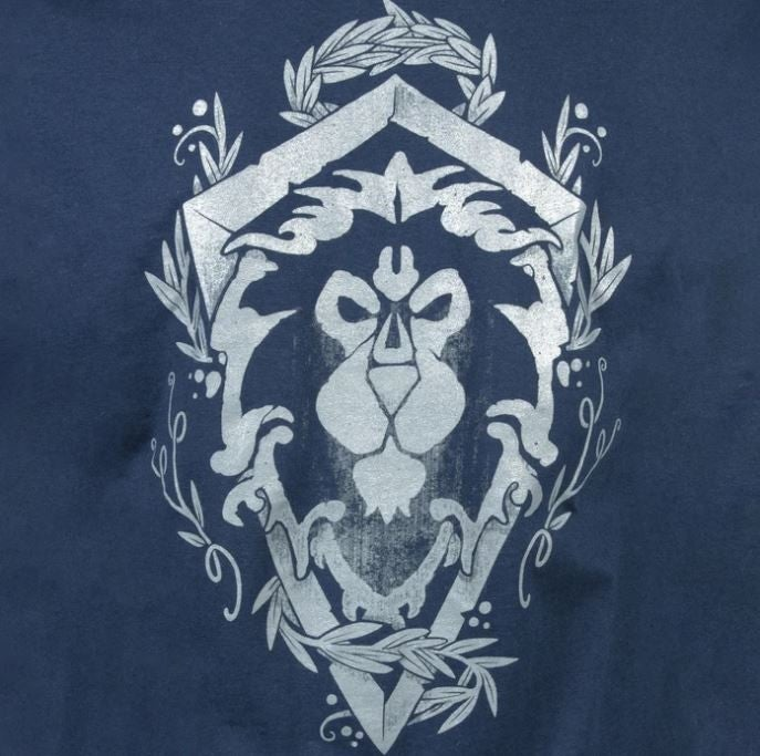 WORLD OF WARCRAFT ALLIANCE LION CREST POCKET TEE