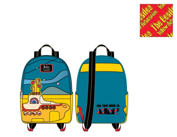 "PRE ORDER - Loungefly "" The Beetles Yellow Submarine ""mini backpack"