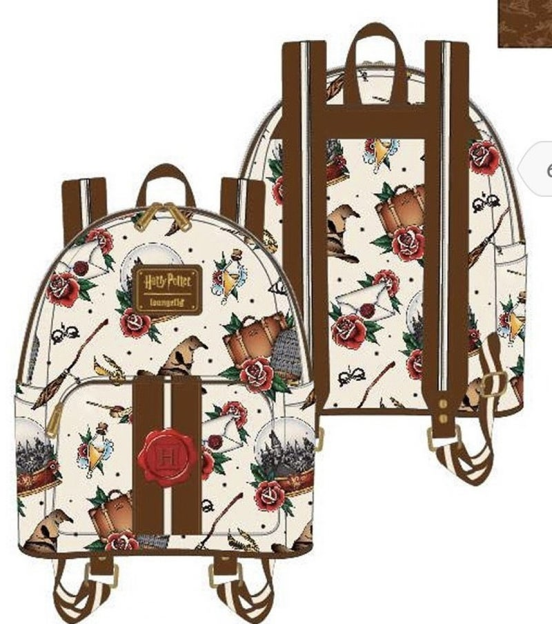Harry Potter Tattoo Mini-Backpack and/or Wallet Loungefly PRE-ORDER