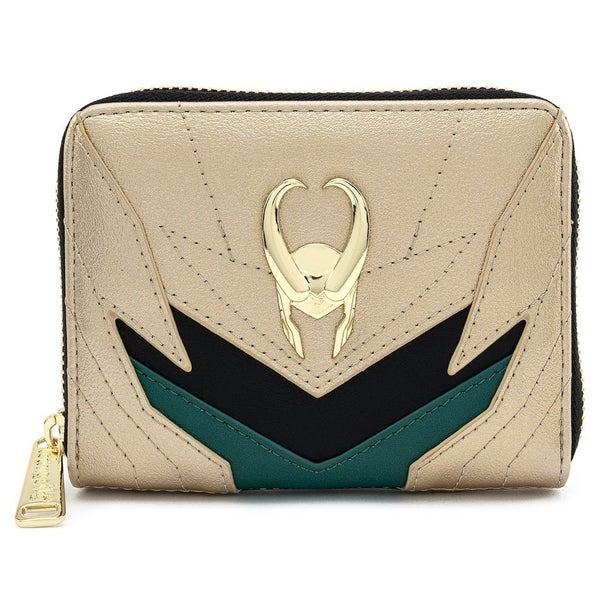 Classic Loki Zip Around Wallet Marvel LOUNGEFLY